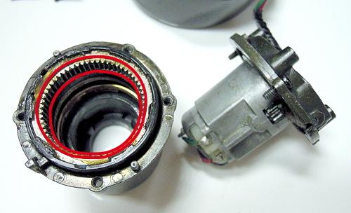 Bmw e53 x5 series door power folding mirror motor gear set for Power mirror motor repair