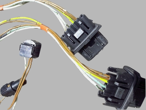 W210 08 mercedes benz w210 headlight wiring harness connector kit hong mercedes wiring harness repair at bayanpartner.co
