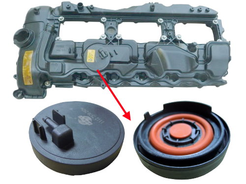 Cylinder head valve cover for BMW 11127570292 N55 for 1' 2